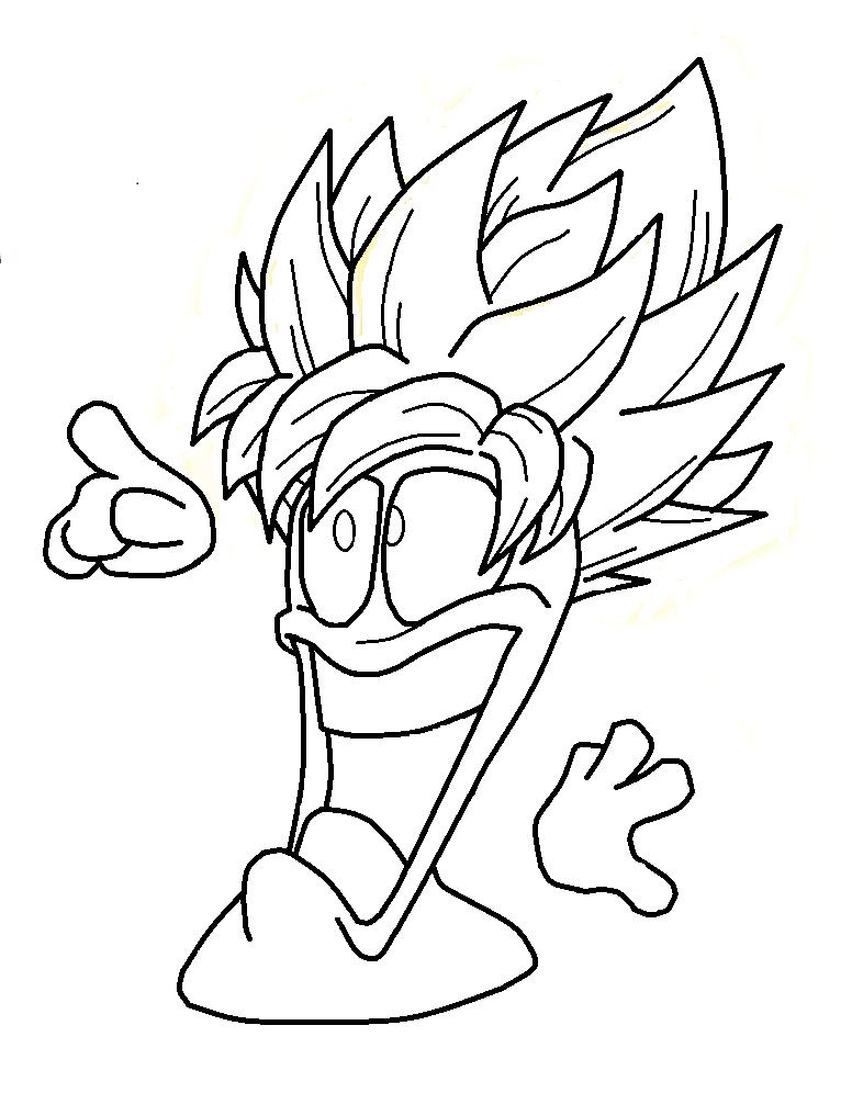 776x996 Worms Goku Ssj By Pabex