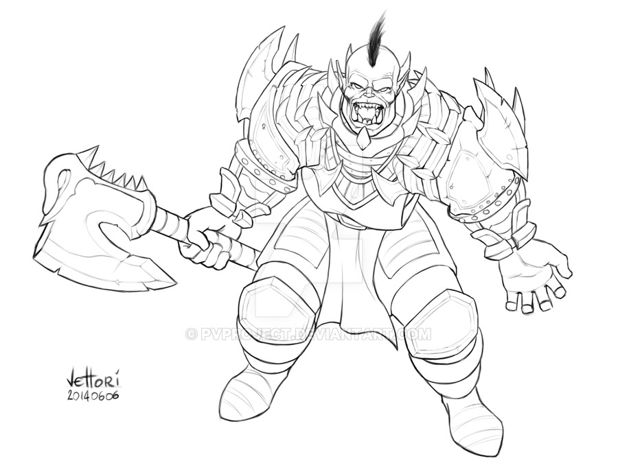 900x675 Roar! (Wow Orc) By Pvproject