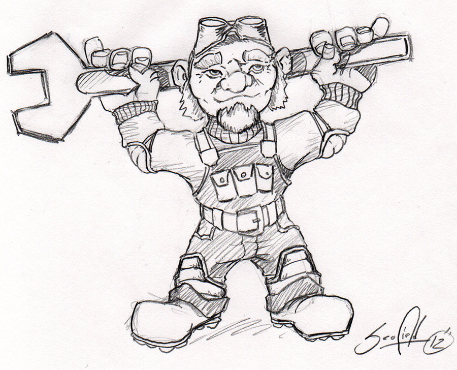 900x728 Wow Art Gnome Engineer By Pscof42