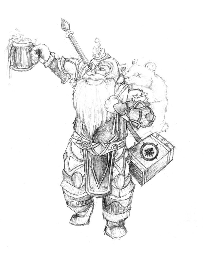 791x1010 Balin Wow Dwarf By Skyzocat