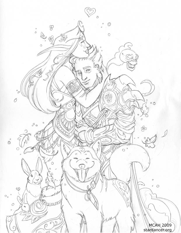 620x800 Druid And Warlock Wow Sketch By Mcah