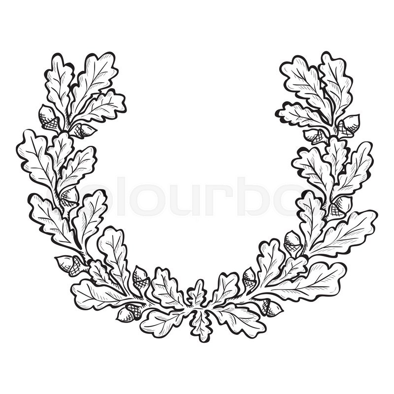 Wreath Drawing