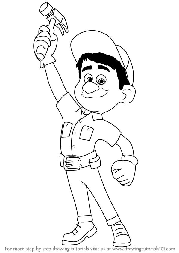 598x844 Learn How To Draw Fix It Felix, Jr From Wreck It Ralph (Wreck It