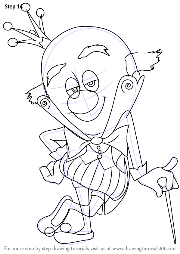 598x844 Learn How To Draw King Candy From Wreck It Ralph (Wreck It Ralph