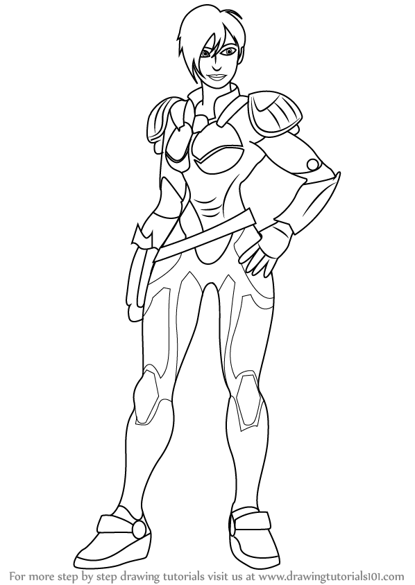 598x844 Learn How To Draw Sergeant Tamora Jean Calhoun From Wreck It Ralph