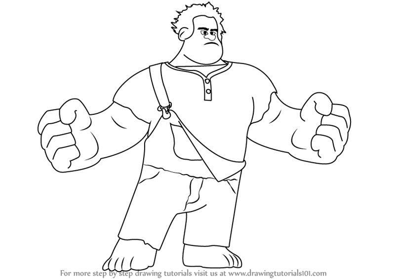 800x566 Learn How To Draw Wreck It Ralph (Wreck It Ralph) Step By Step