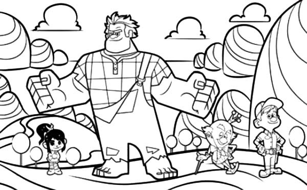 600x373 Drawing Wreck It Ralph Movie Coloring Pages Batch Coloring