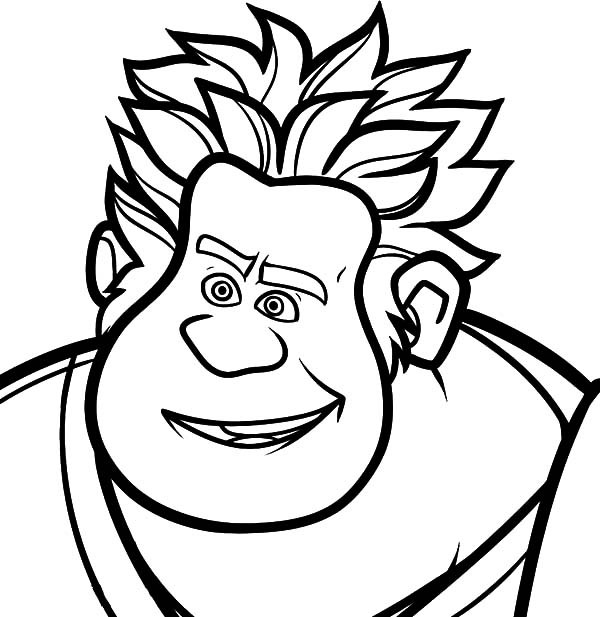 600x617 How To Draw Wreck It Ralph Coloring Pages Batch Coloring