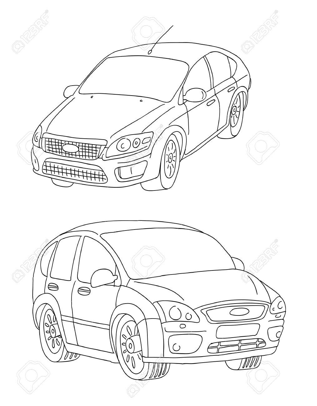 1015x1300 Contours, Lines Of Cars Royalty Free Cliparts, Vectors, And Stock