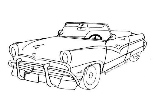 512x341 How To Draw Cars Easy. Vintage Trucks, Cars And Nice