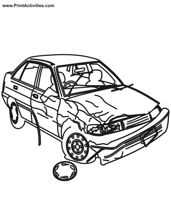 Wrecked Car Drawing at GetDrawings com | Free for personal
