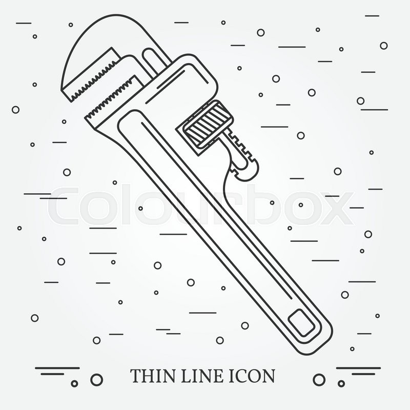 800x800 Wrench Icon. Wrench Icon Vector. Wrench Icon Drawing. Wrench Icon