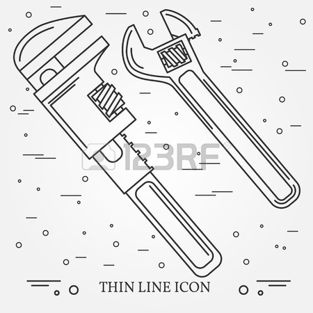 450x450 Wrench Icons. Wrench Icons Vector. Wrench Icons Drawing. Wrench