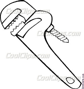 285x300 Pipe Wrench Vector Clip Art