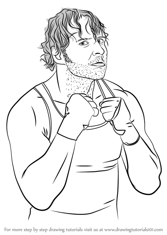 567x800 Learn How To Draw Dean Ambrose (Wrestlers) Step By Step Drawing