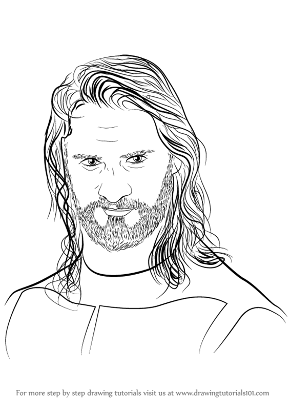566x800 Learn How To Draw Seth Rollins (Wrestlers) Step By Step Drawing
