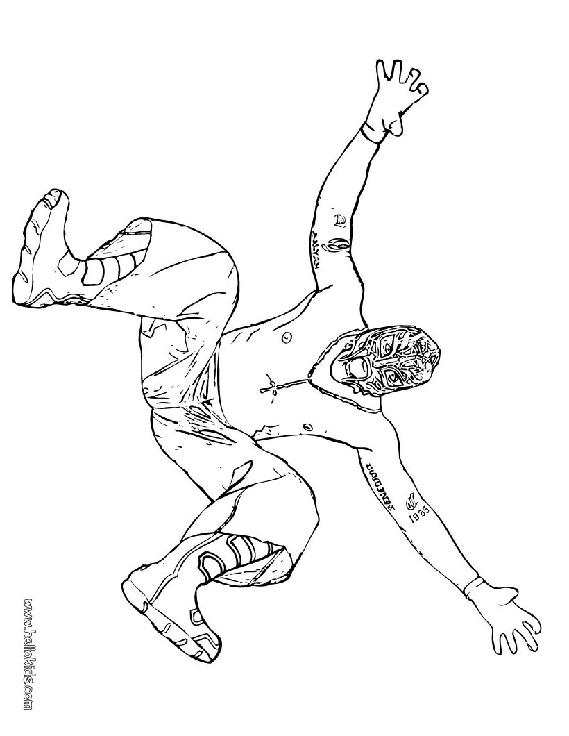 820x1060 Wrestler Rey Mysterio Coloring Page For Zach Kid Stuff