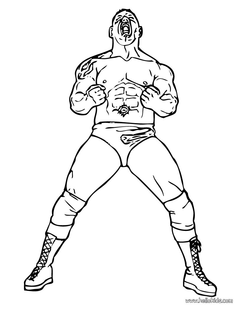 820x1060 Wrestler Batista Coloring Pages