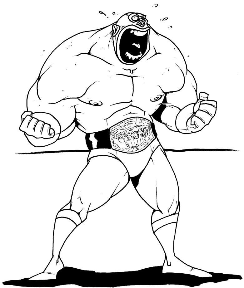 781x923 Wrestler Guy By Vincentkukua