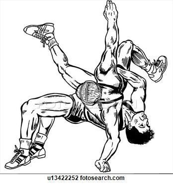 348x370 Drawings Of Wrestlers Wrestle, Wrestler, Wrestlers, Wrestling