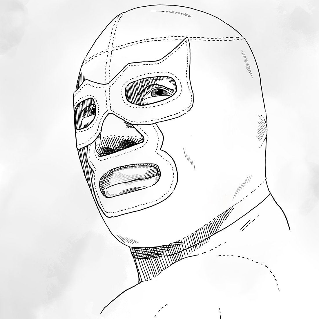 1100x1100 Japanese And Mexican Wrestlers Laerte Emme