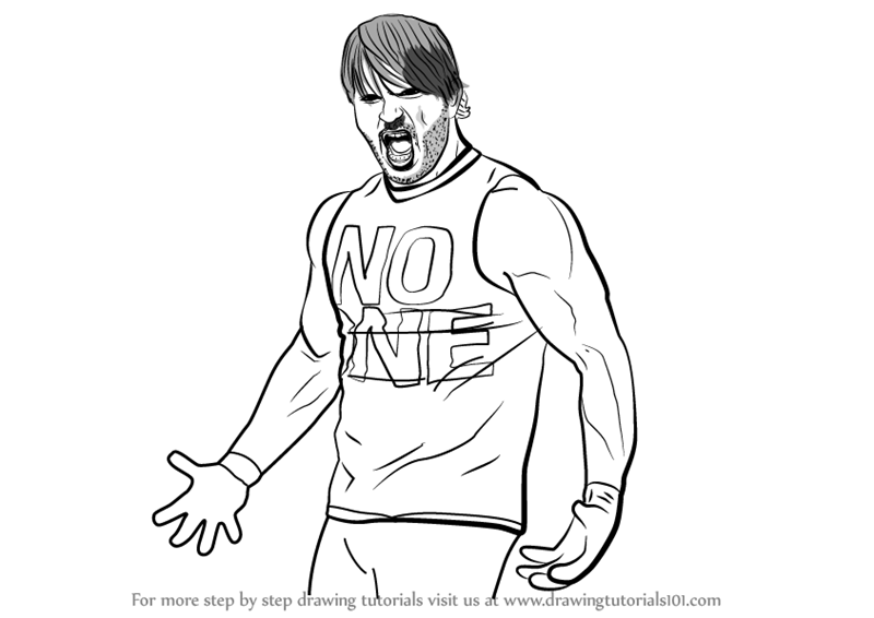 800x566 Learn How To Draw Aj Styles (Wrestlers) Step By Step Drawing