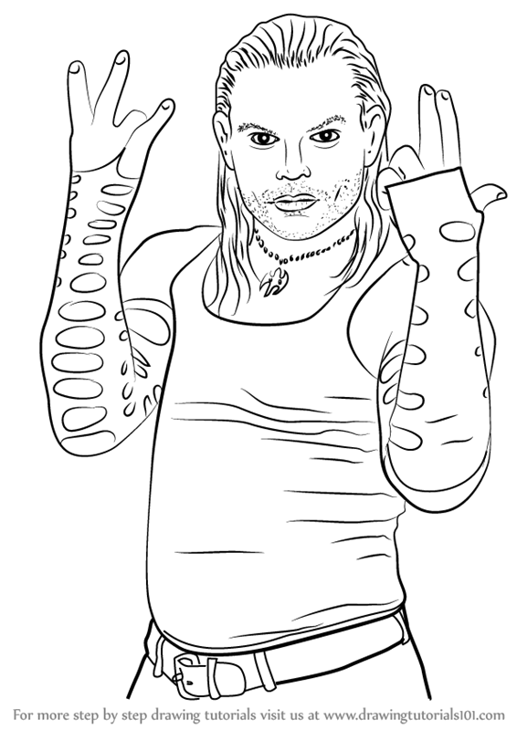 566x800 Learn How To Draw Jeff Hardy (Wrestlers) Step By Step Drawing