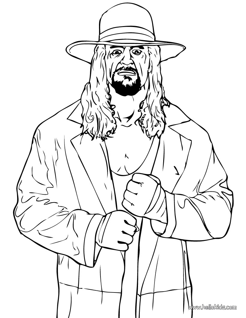 820x1060 Wrestling Coloring Pages