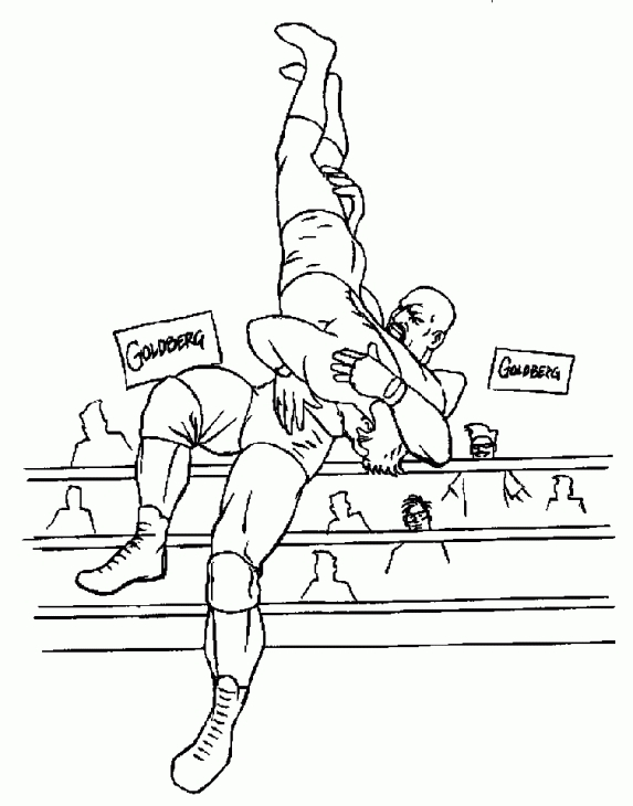 573x730 Wwe Professional Wrestling Coloring Page For Boys Sports