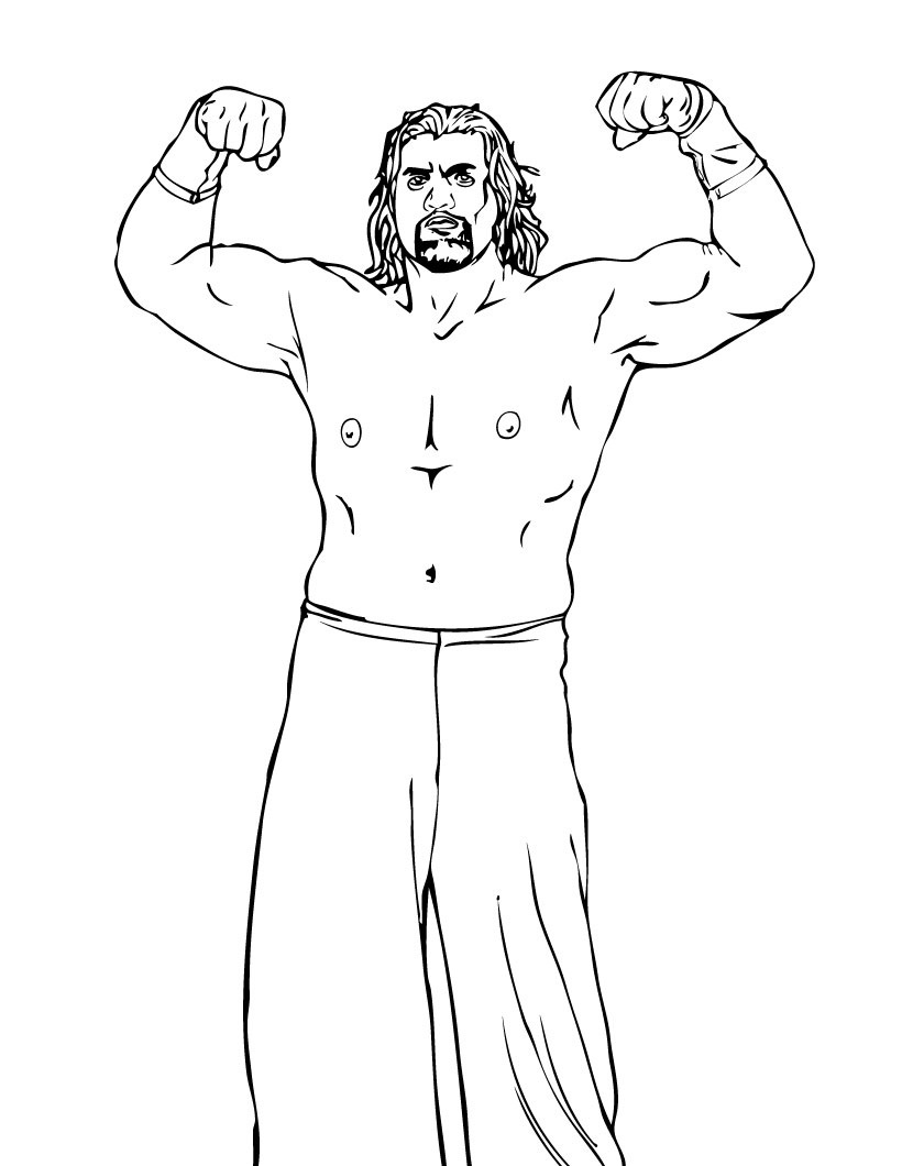 820x1060 Wwe Wrestling Coloring Pages