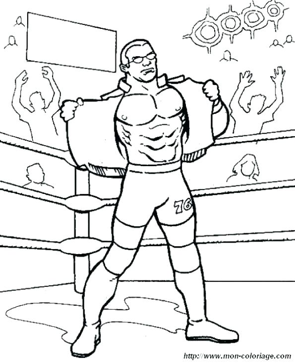 595x730 Wrestling Color Pages Wrestling Color Pages Wrestling Coloring