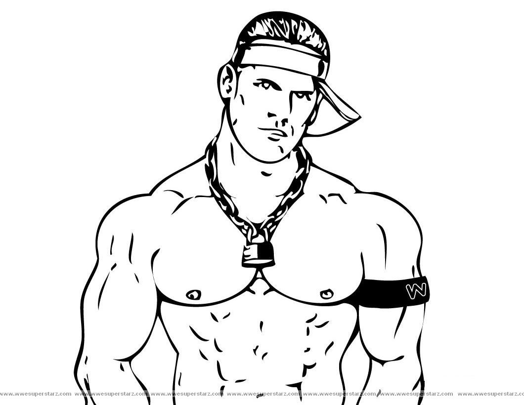 1060x820 Coloring Book John Cena Printable Pages Free Wwe Wwe For Kids