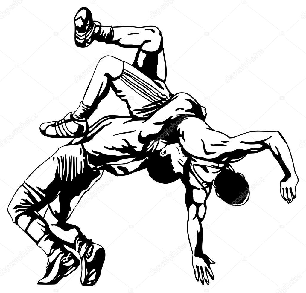 1023x981 Wrestling Stock Vectors, Royalty Free Wrestling Illustrations