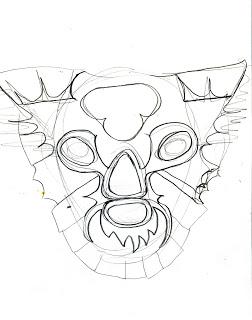 252x320 Koala Blog Koala Mexican Wrestling Mask Drawings