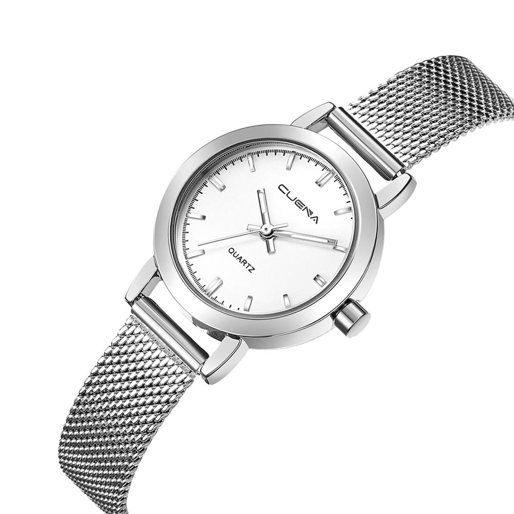 1001x1001 Luxury Women Stainless Steel Mesh Wristwatch Waterproof Analog