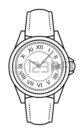 284x450 11,326 Wristwatch Stock Illustrations, Cliparts And Royalty Free