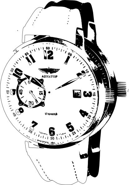 414x591 Wrist Watch 3 Clip Art
