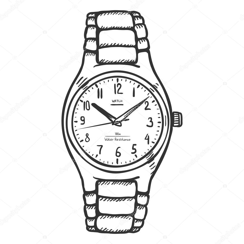 Drawing Lines On Your Wrist : Wrist watch drawing at getdrawings free for personal