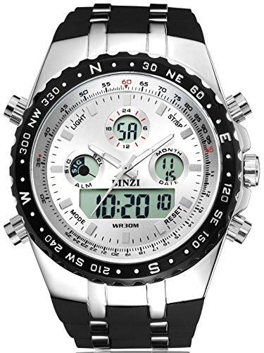 375x500 A1000 Binzi Big Face Sport Watches For Men, Roman Numeral