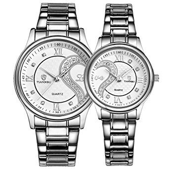 342x342 Couple Watches Quartz Waterproof Wristwatches For Lovers Pair