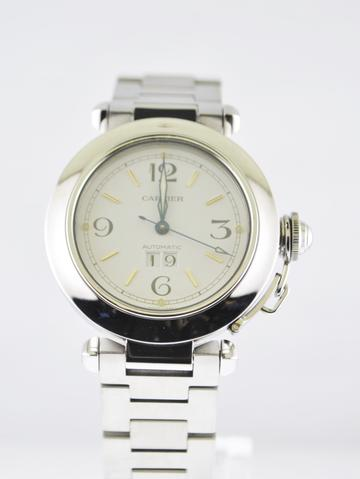 360x479 Cartier Dual Date Men's Automatic Wristwatch In Stainless Steel