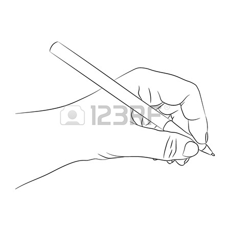 450x450 Left Hander Writing Or Drawing Something. Lefty Person Concept