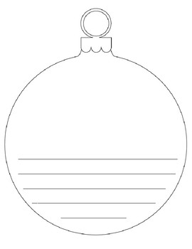 270x350 Ornament Writing Template By Spanishonthemountain Tpt