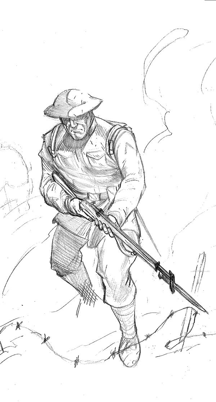 600x1119 Doughboy Sketch By Jefflcl