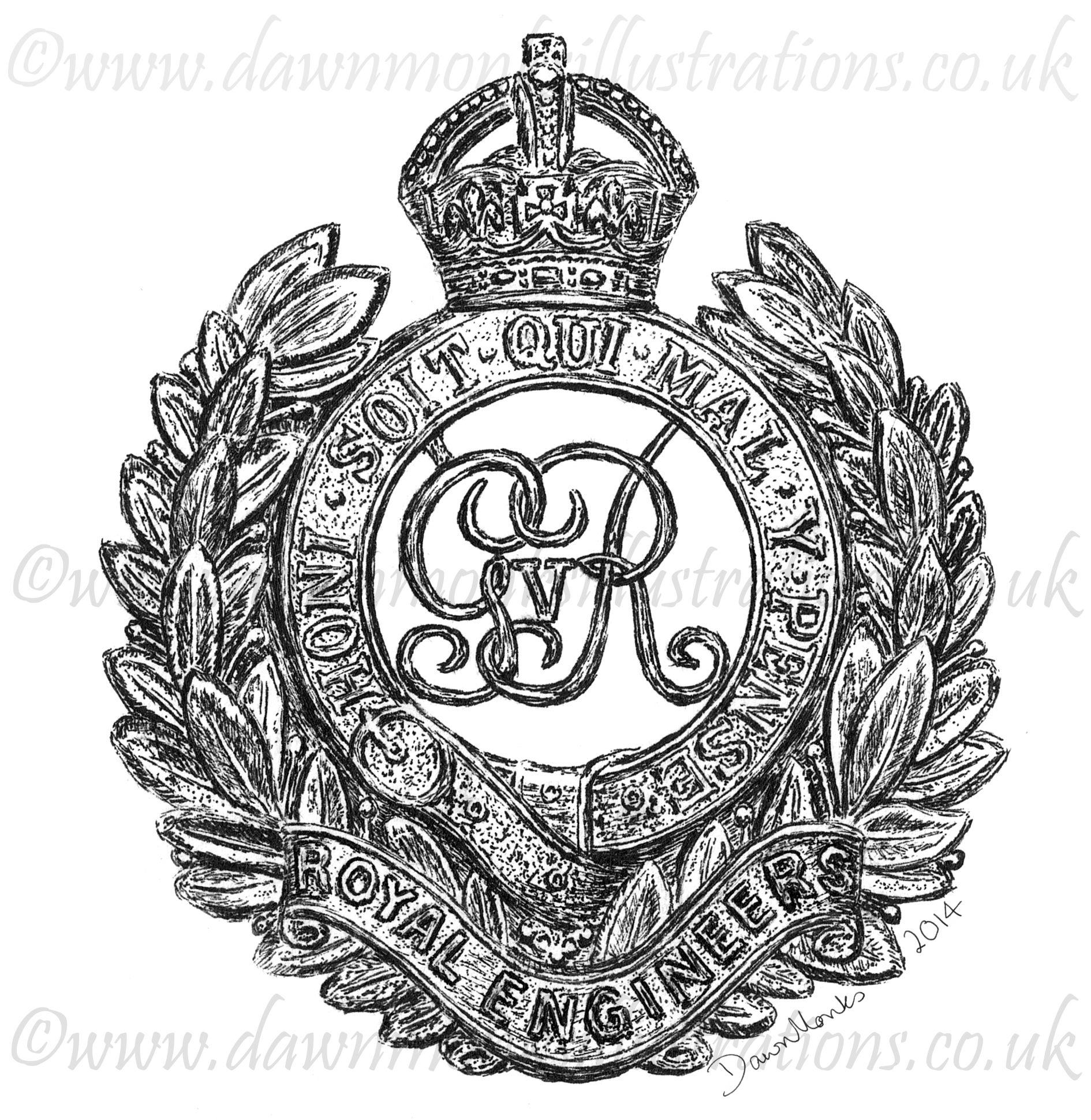 1890x1940 Royal Engineers Ww1 Cap Badge Design Baseball Cap Dawn Monks