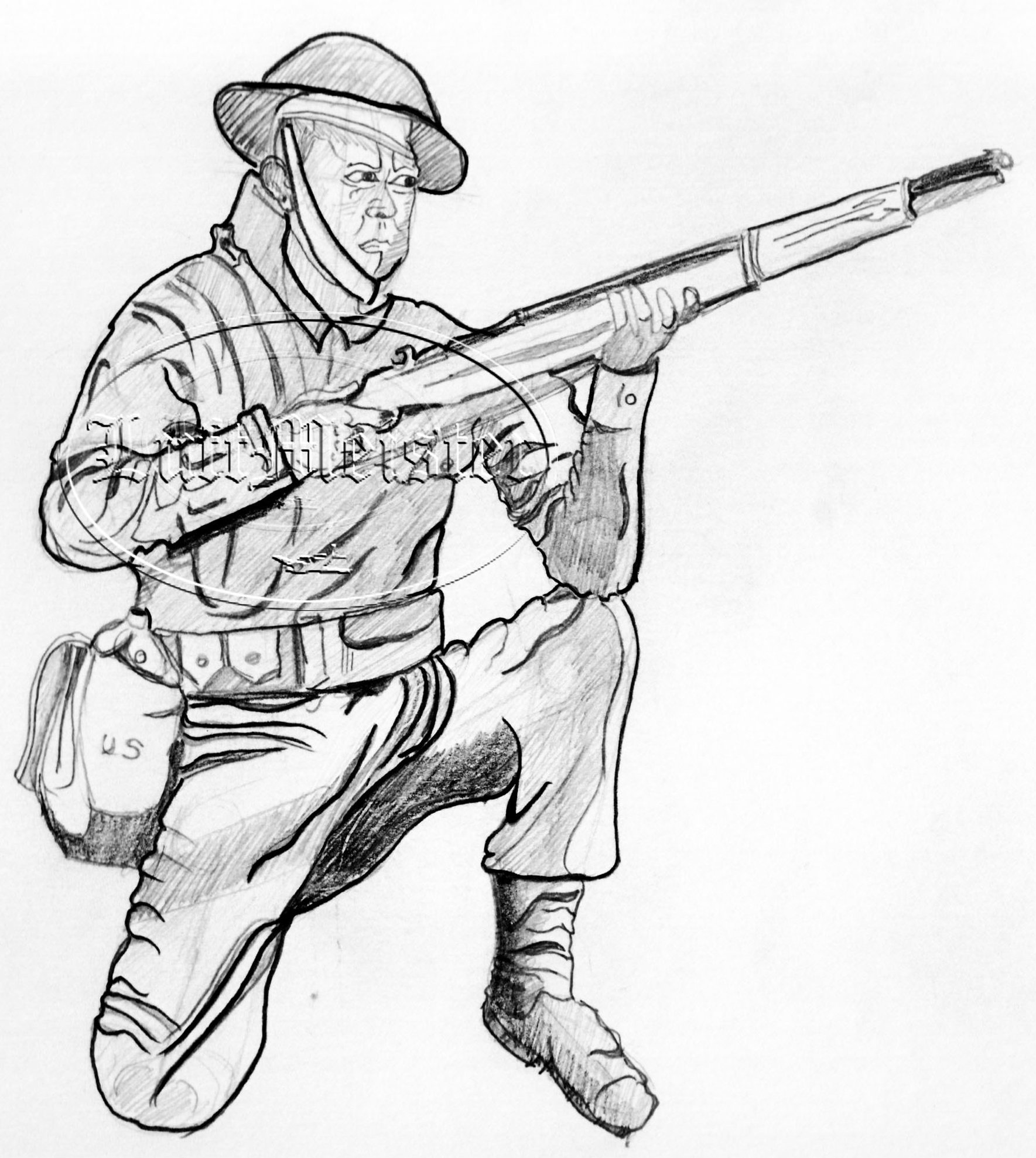 1769x1978 Us Soldier Wwi Infantry By Luftmeister
