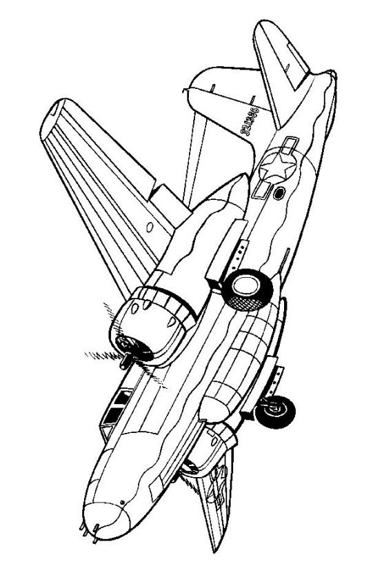 541x821 Kids N 46 Coloring Pages Of Wwii Aircrafts