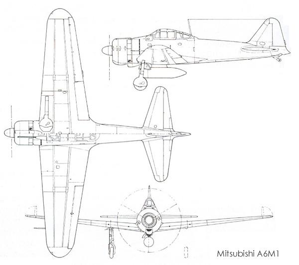 600x531 Mitsubishi A6m Reisen (Zero Sen)