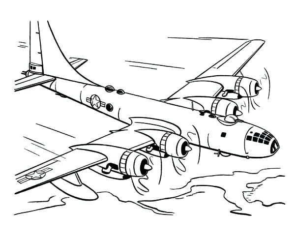 600x490 World War 2 Coloring Pages Airplane Airplane Coloring World War 2