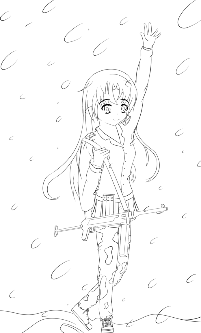 696x1149 Manga Drawing Ww2 Soldier With Mp40 By Sirlami